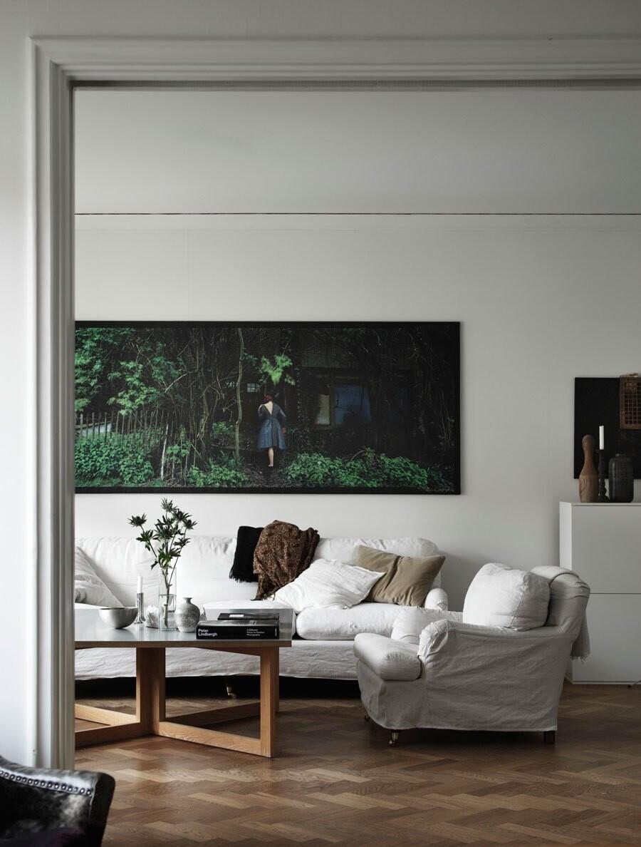 Lenskog belfrage vardagsrum soffa elledecoration