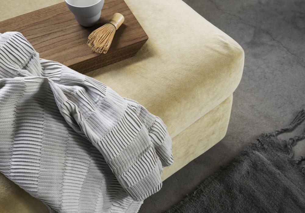 Ikea vimle footstool malmenvelvet strawyellow bemz