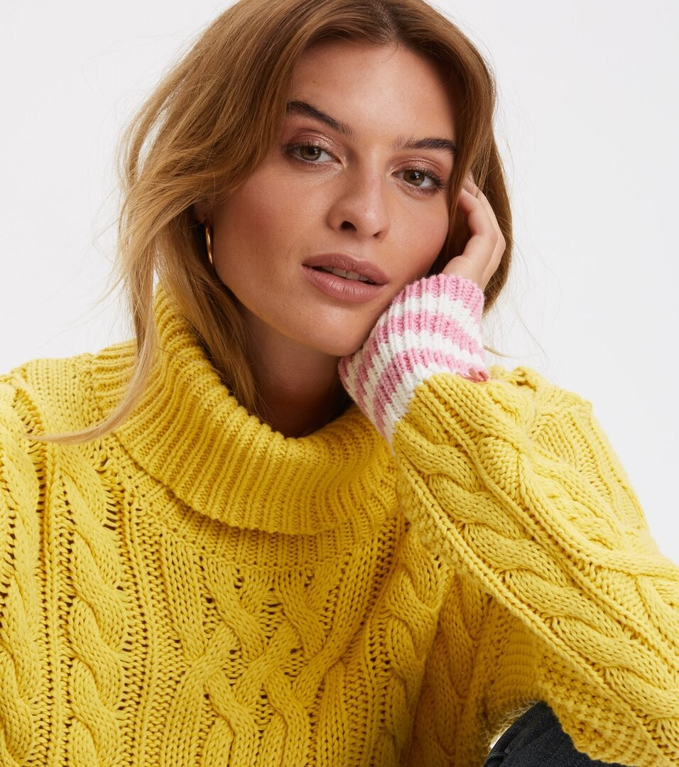 6429 68155e2f07 819m 110 majestic turtleneck yellow front 3